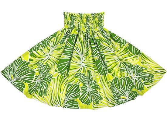 緑と黄色のパウスカート ハイビスカス大柄 Sprm-2578GNYW 73cm 4本ゴム 【既製品】【NPS】【既製品】