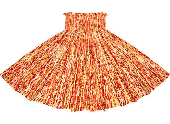 赤のパウスカート ウェーブ柄 spau-rm-2705RD-75cm-4line 【既製品】