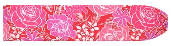 ピンクのパウスカートケース ローズ・プルメリア・ティアレ柄 pcase-2711Pi 【メール便可】★オーダーメイド