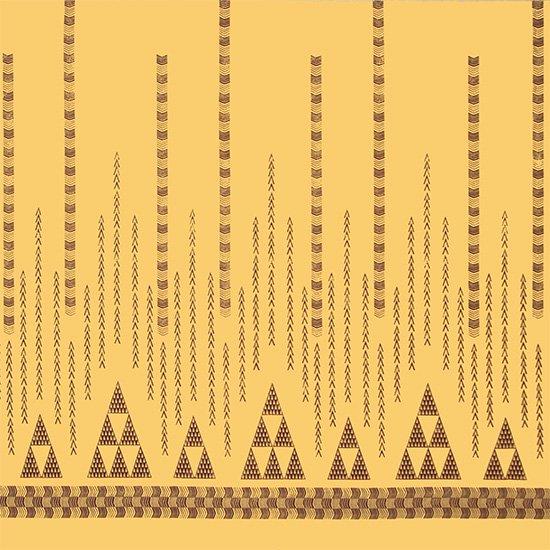 ベージュのハワイアンファブリック オヘカパラ・カヒコ柄 fab-2712BG 【4yまでメール便可】