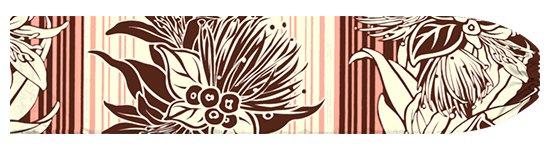 茶色とピンクのパウスカートケース レフア・リリー・ボーダー柄 pcase-2713BRPi 【メール便可】★オーダーメイド