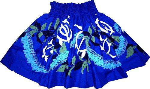 【ケイキ(子供)用】青のパウスカート ホヌとマイレ柄 kpau-8-2.4y-40cm-2L