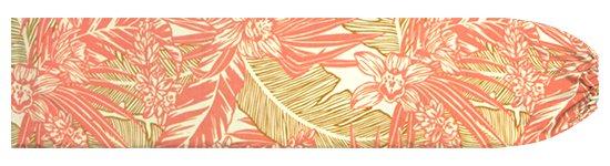 クリーム色とコーラルピンクのパウスカートケース オーキッド・ヤシ・バナナリーフ柄 pcase-2715CR 【メール便可】★オーダーメイド