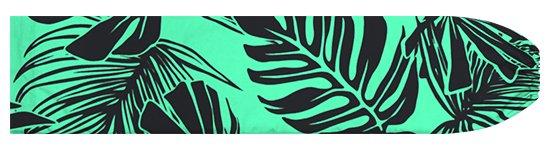 ヒスイ色のパウスカートケース モンステラ・トロピカルリーフ柄 pcase-2716JD 【メール便可】★オーダーメイド