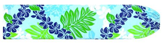 水色のパウスカートケース プルメリアレイ・リーフ柄 pcase-2717AQ 【メール便可】★オーダーメイド