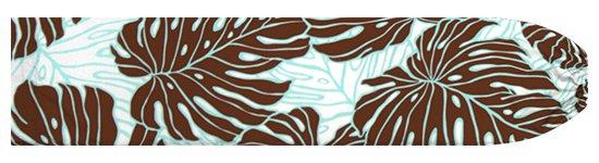 茶色のパウスカートケース モンステラ柄 pcase-2718BR 【メール便可】★オーダーメイド