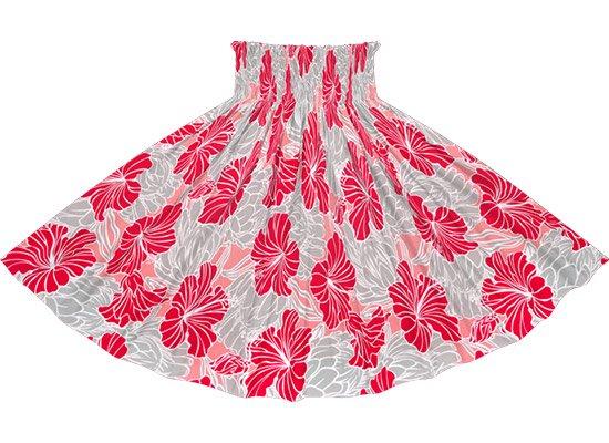 ピンクとグレーのパウスカート ハイビスカス・プロテア柄 spau-2721PiGY