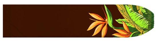 茶色のパウスカートケース バードオブパラダイス柄 pcase-2726BR 【メール便可】★オーダーメイド