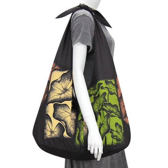 リボントートバッグ タロ柄 bag-t-rbn-2458BK 【メール便可】