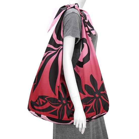 リボントートバッグ ティアレ・リーフ・グラデーション柄 bag-t-rbn-2544RDPi 【メール便可】