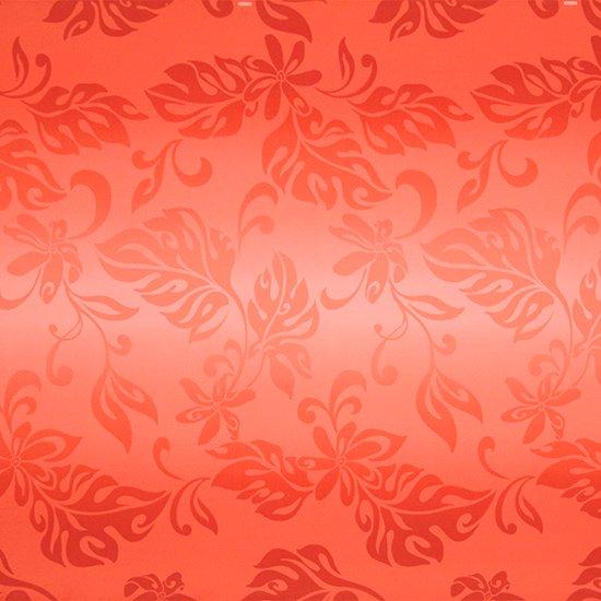 赤のハワイアンファブリック ティアレ・グラデーション柄 fab-2728RD 【4yまでメール便可】