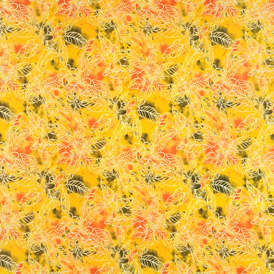 黄色のハワイアンファブリック プルメリア柄 fab-2733YW 【4yまでメール便可】