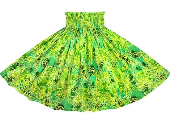 緑のパウスカート プルメリア柄 spau-2733GN