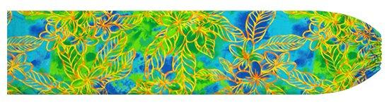 水色のパウスカートケース プルメリア柄 pcase-2733AQ 【メール便可】★オーダーメイド