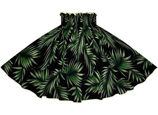 【パイピングパウスカート】 黒のパウスカート ヤシ柄 pipau-2729BK-きなり