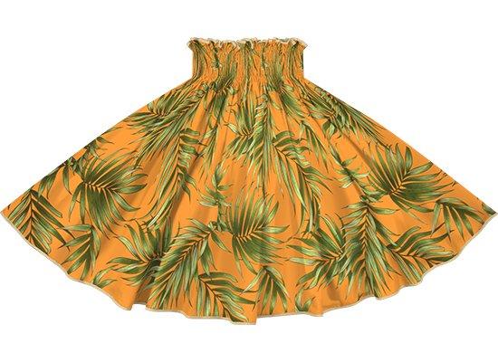 【パイピングパウスカート】 オレンジのパウスカート ヤシ柄 サンドカーキのパイピング pipau-2729OR-sandkhaki