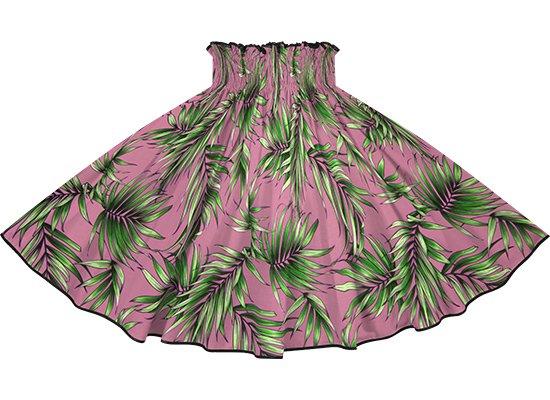 【パイピングパウスカート】 紫のパウスカート ヤシ柄 ブラックのパイピング pipau-2729PP-black