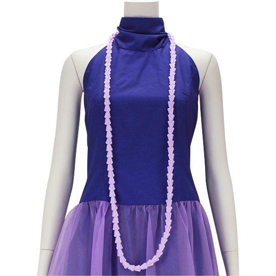 クラウンフラワーのプラスチックレイ 薄紫色 ロングタイプ hlac-FLcrown-l-lightpurple 【2個までメール便可】