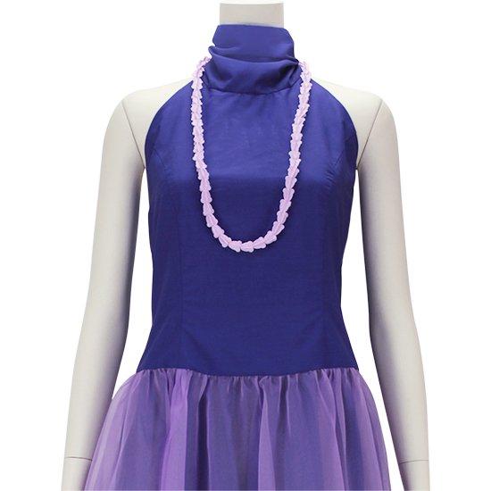 クラウンフラワーのプラスチックレイ 薄紫色 ショートタイプ flcrown-s-lightpurple 【4個までメール便可】