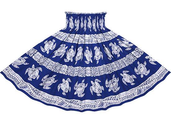 青のパウスカート ホヌ・カヒコ柄 spau-2739BL