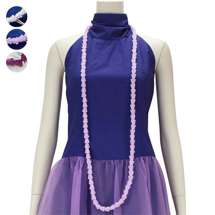 クラウンフラワーのプラスチックレイ ロングタイプ hlac-FLcrown-l 【2個までメール便可】 白 紫 薄紫