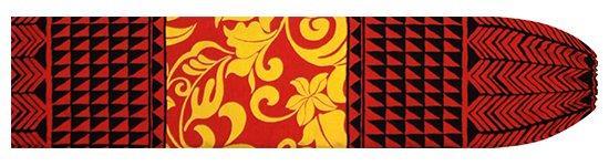 赤のパウスカートケース モンステラ・プルメリア・タパ柄 pcase-2735RD  【メール便可】 ★既製品