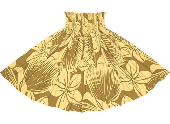 茶色のパウスカート プルメリア・レフア大柄 spau-2742BR