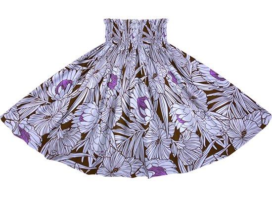紫のパウスカート プロテア・ハイビスカス柄 spau-2743PP