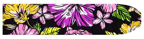 黒のパウスカートケース ハイビスカス・プルメリア柄 pcase-2744BK 【メール便可】★オーダーメイド