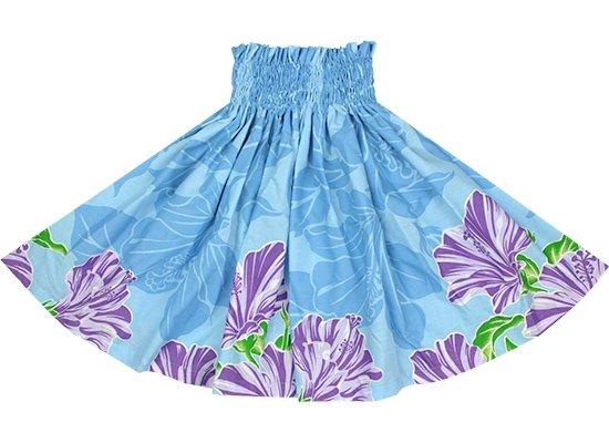 【アウトレット】【ケイキ(子供)用】水色のパウスカート ハイビスカス柄 out-kpau-2690AQ 52cm 3本ゴム