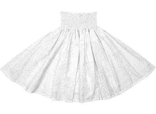 【アウトレット】白のパウスカート  タパ・トライバル柄 out-2702WH 75cm 4本ゴム