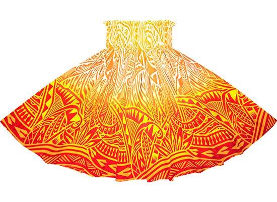 【アウトレット】赤のパウスカート  トライバル・グラデーション柄 out-2732RDYW 75cm 4本ゴム