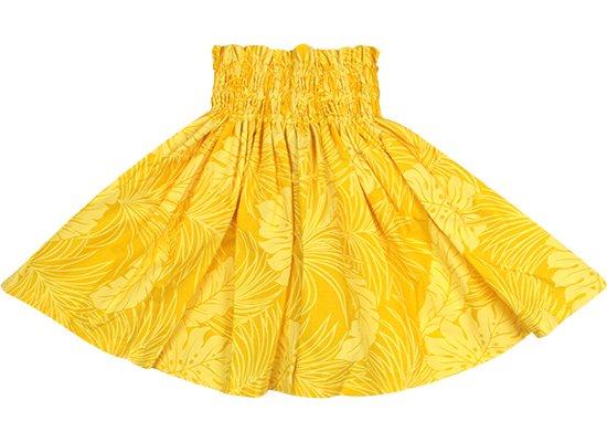 【ケイキ(子供)用】 黄色のパウスカート モンステラ総柄 ロック仕上げ kpau-2022YW 50cm 3本ゴム lock【既製品】