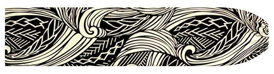 黒のパウスカートケース ウエーブ・カヒコ柄 pcase-2747BK 【メール便可】★オーダーメイド