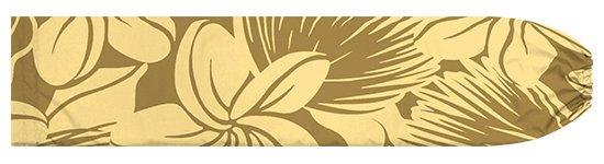 茶色のパウスカートケース プルメリア・レフア大柄 pcase-2742BR  【メール便可】 ★既製品