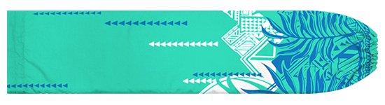 水色のパウスカートケース ヤシ・オヘカパラ柄 pcase-2750AQ 【メール便可】★オーダーメイド