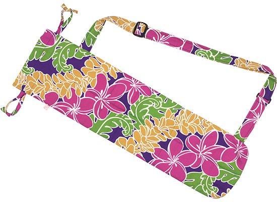 紫のプイリケース プーイリケース ショルダータイプ 斜めプルメリア・レイ柄 puilicase-sld-2619PP 既製品 【メール便可】