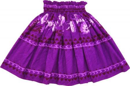 紫系のパウスカート ウリウリ、プイリ、パフ・楽器柄 0455-75cm-3line