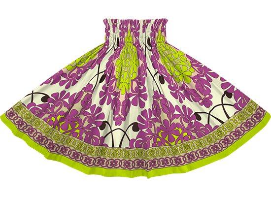クリーム色と紫のパウスカート キルト柄 spau-2753CRPP