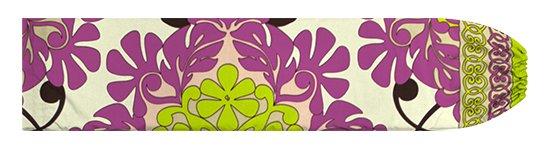 クリーム色と紫のパウスカートケース キルト柄 pcase-2753CRPP 【メール便可】★オーダーメイド
