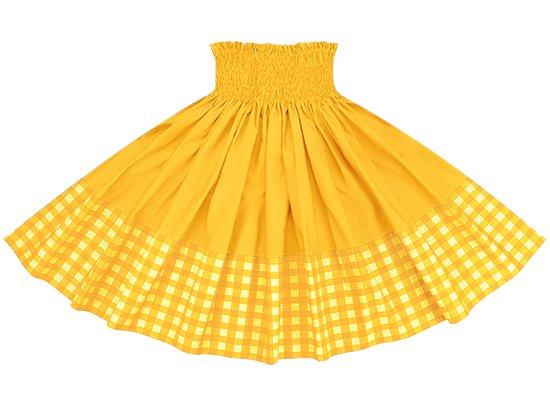 【ポエポエパウスカート】 黄色のパラカ柄とゴールドの無地 pppau-l-2028YW-gold