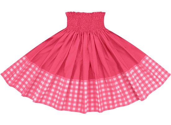 【ポエポエパウスカート】 ピンクのパラカ柄とトロピカルピンクの無地 pppau-l-2028Pi-tropi
