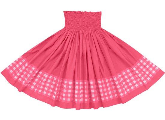 【ポエポエパウスカート】 ピンクのパラカ柄とトロピカルピンクの無地 pppau-s-2028Pi-tropi