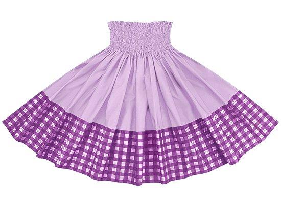【ポエポエパウスカート】 紫のパラカ柄とラベンダーの無地 pppau-l-2028PP-lavender