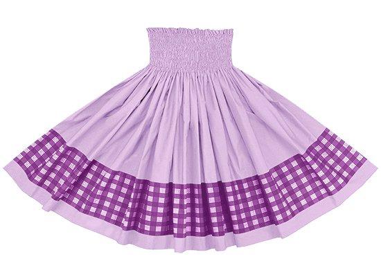 【ポエポエパウスカート】 紫のパラカ柄とラベンダーの無地 pppau-s-2028PP-lavender