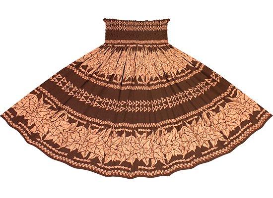 茶色のパウスカート ククイ・カヒコボーダー柄 spau-2758BR