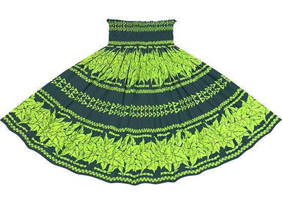 緑のパウスカート ククイ・カヒコボーダー柄 spau-2758GN