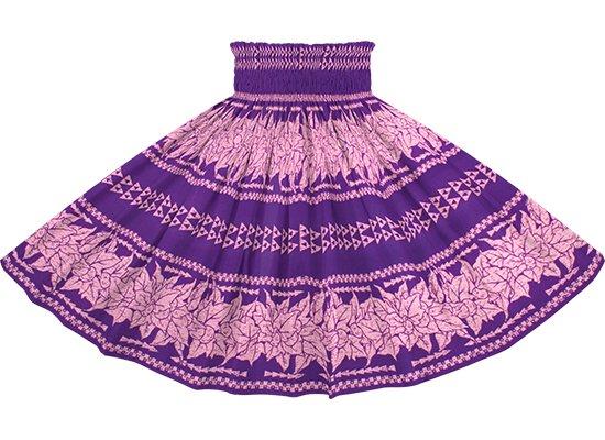 紫のパウスカート ククイ・カヒコボーダー柄 spau-2758PP