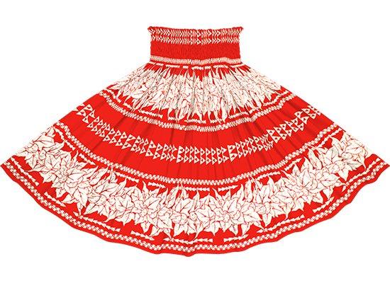赤のパウスカート ククイ・カヒコボーダー柄 spau-2758RD