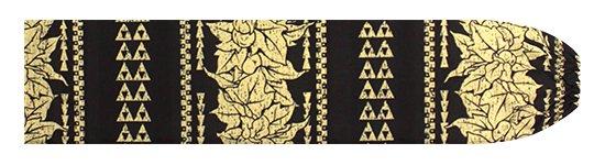 黒のパウスカートケース ククイ・カヒコボーダー柄 pcase-2758BK 【メール便可】★オーダーメイド